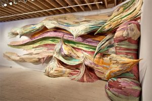 untitled (Brushstroke) | 2011 Boulder Museum of Contemporary Art, Boulder-USA | plywood and pigments | 11 x 3,5 x 1m